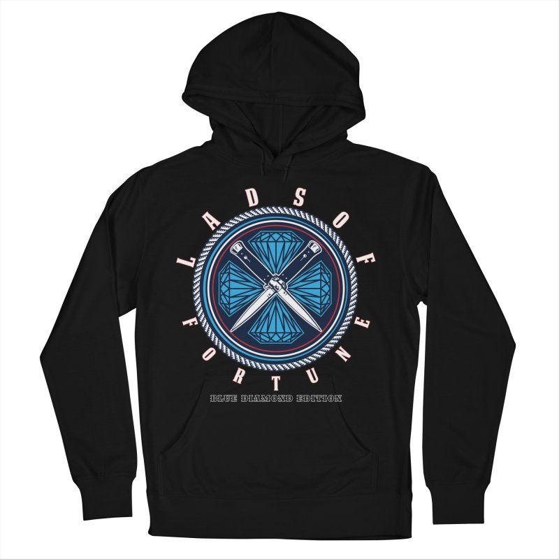 Blue Diamond Edition  Men's French Terry Pullover Hoody by Lads of Fortune Artist Shop