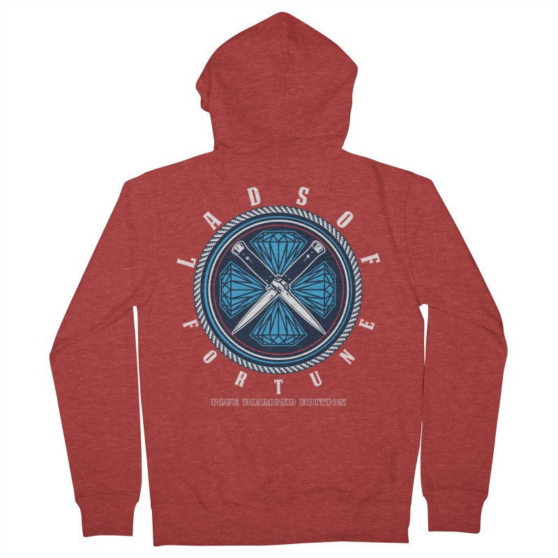 Blue Diamond Edition  Women's French Terry Zip-Up Hoody by Lads of Fortune Artist Shop