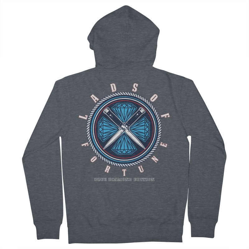 Blue Diamond Edition  Men's French Terry Zip-Up Hoody by Lads of Fortune Artist Shop