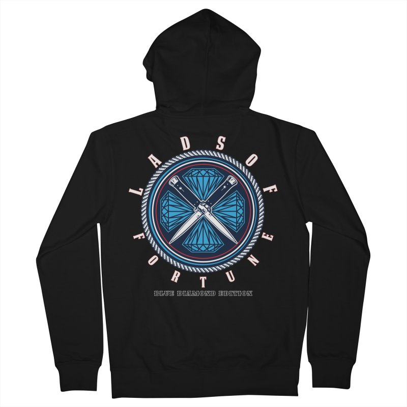 Blue Diamond Edition  Men's Zip-Up Hoody by Lads of Fortune Artist Shop