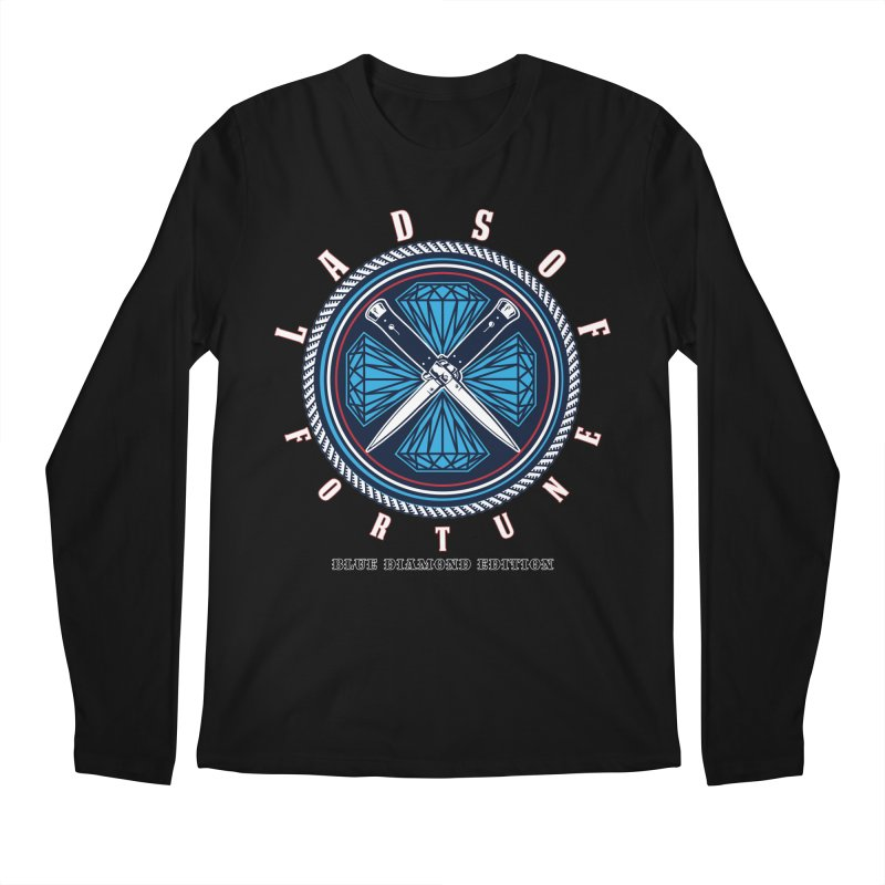 Blue Diamond Edition  Men's Longsleeve T-Shirt by Lads of Fortune Artist Shop