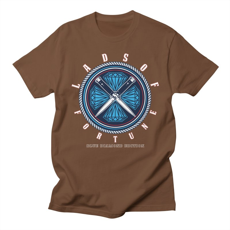 Blue Diamond Edition  Men's T-Shirt by Lads of Fortune Artist Shop