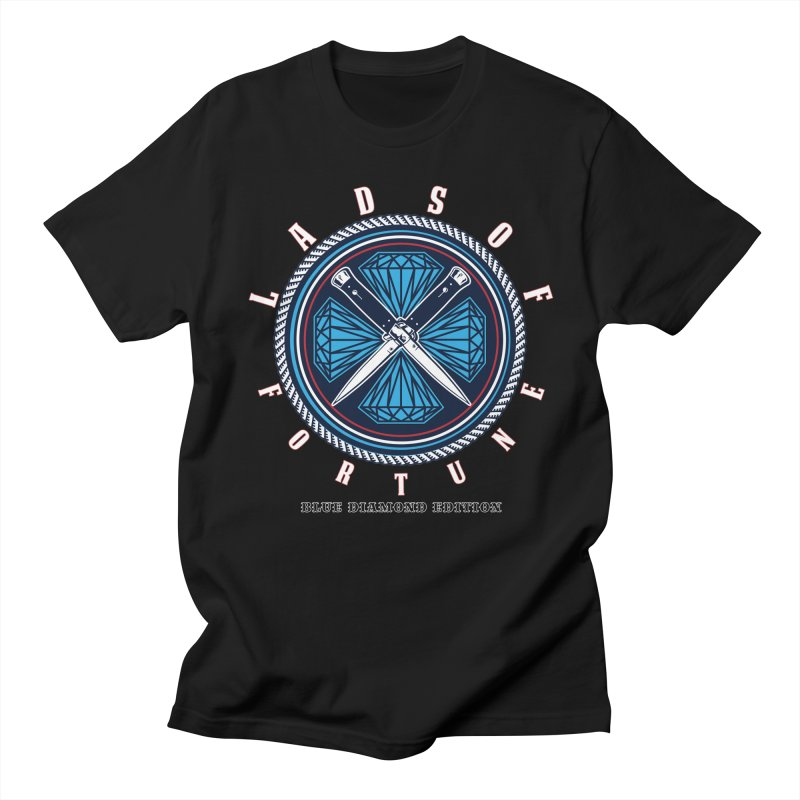 Blue Diamond Edition  Men's Regular T-Shirt by Lads of Fortune Artist Shop