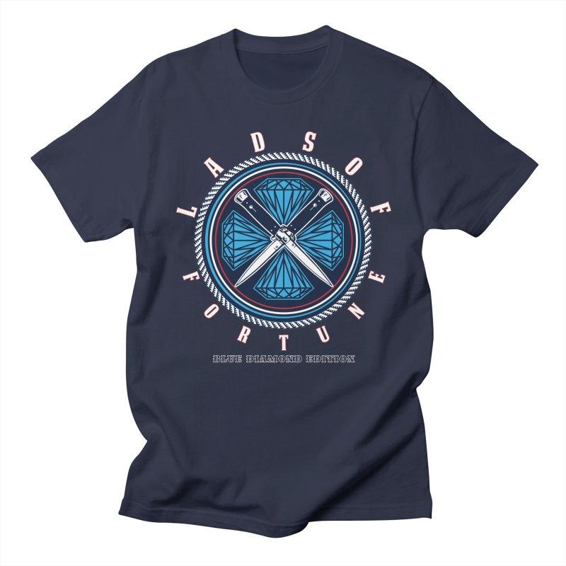 Blue Diamond Edition  Men's T-shirt by Lads of Fortune Artist Shop