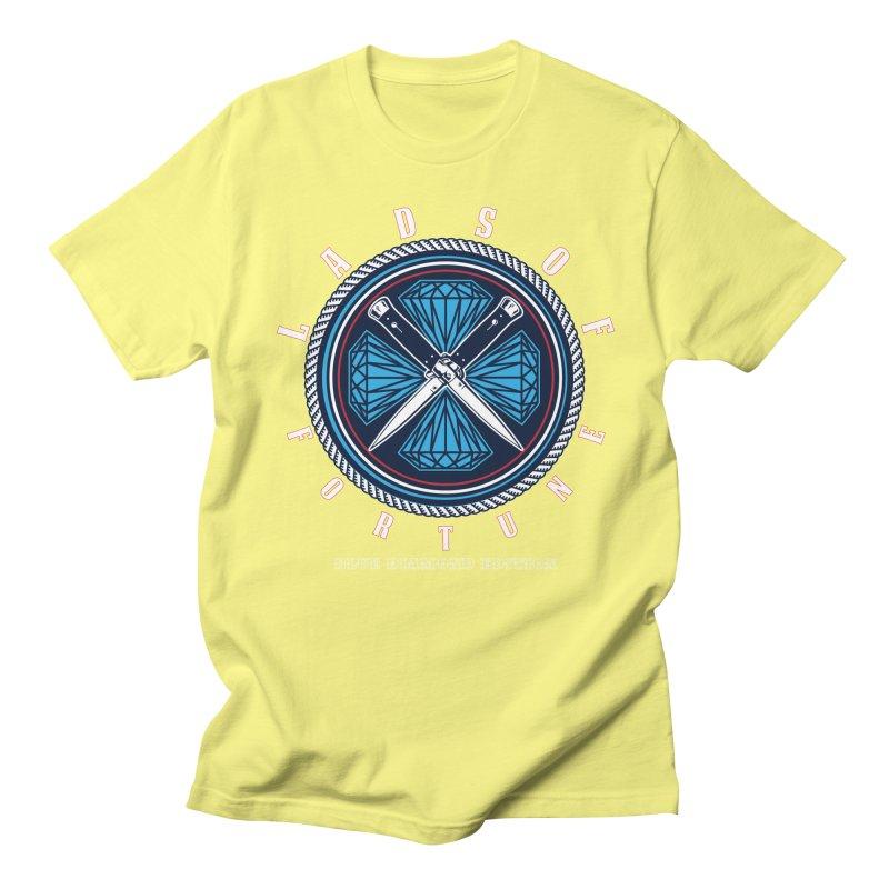 Blue Diamond Edition  Men's Regular T-Shirt by Lads of Fortune Artist Shop