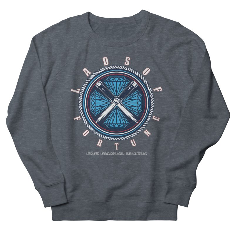 Blue Diamond Edition  Men's French Terry Sweatshirt by Lads of Fortune Artist Shop
