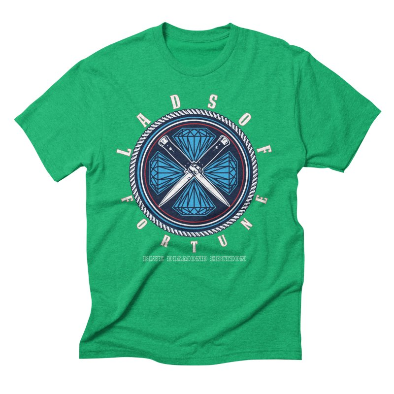 Blue Diamond Edition  Men's Triblend T-Shirt by Lads of Fortune Artist Shop