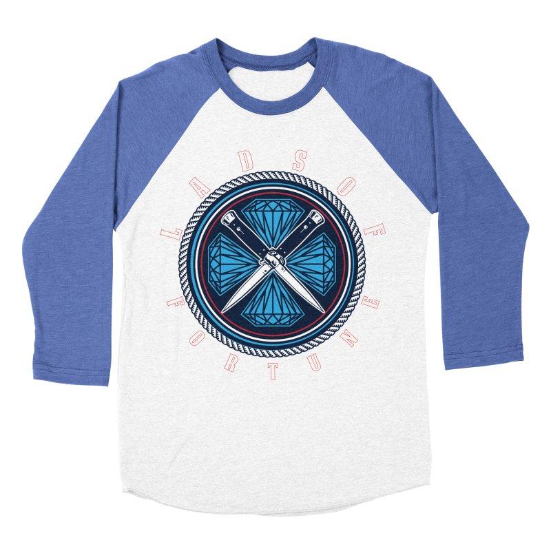 Blue Diamond Edition  Women's Baseball Triblend Longsleeve T-Shirt by Lads of Fortune Artist Shop