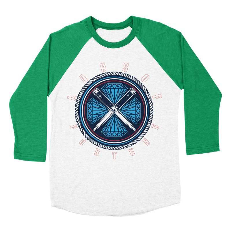 Blue Diamond Edition  Women's Baseball Triblend Longsleeve T-Shirt by Lads of Fortune Artist Shop
