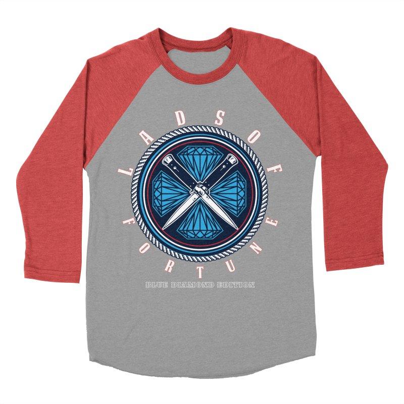 Blue Diamond Edition  Women's Baseball Triblend T-Shirt by Lads of Fortune Artist Shop