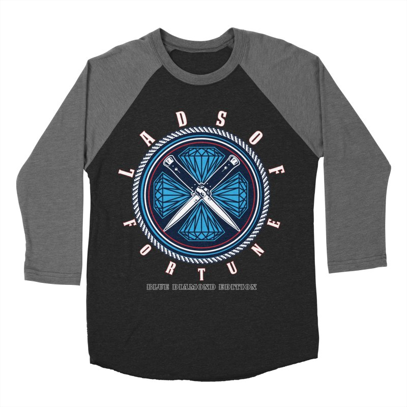 Blue Diamond Edition  Men's Baseball Triblend T-Shirt by Lads of Fortune Artist Shop