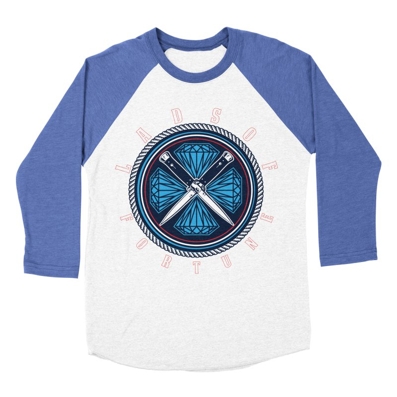 Blue Diamond Edition  Men's Baseball Triblend T-Shirt by Lads of Fortune Artist Shop