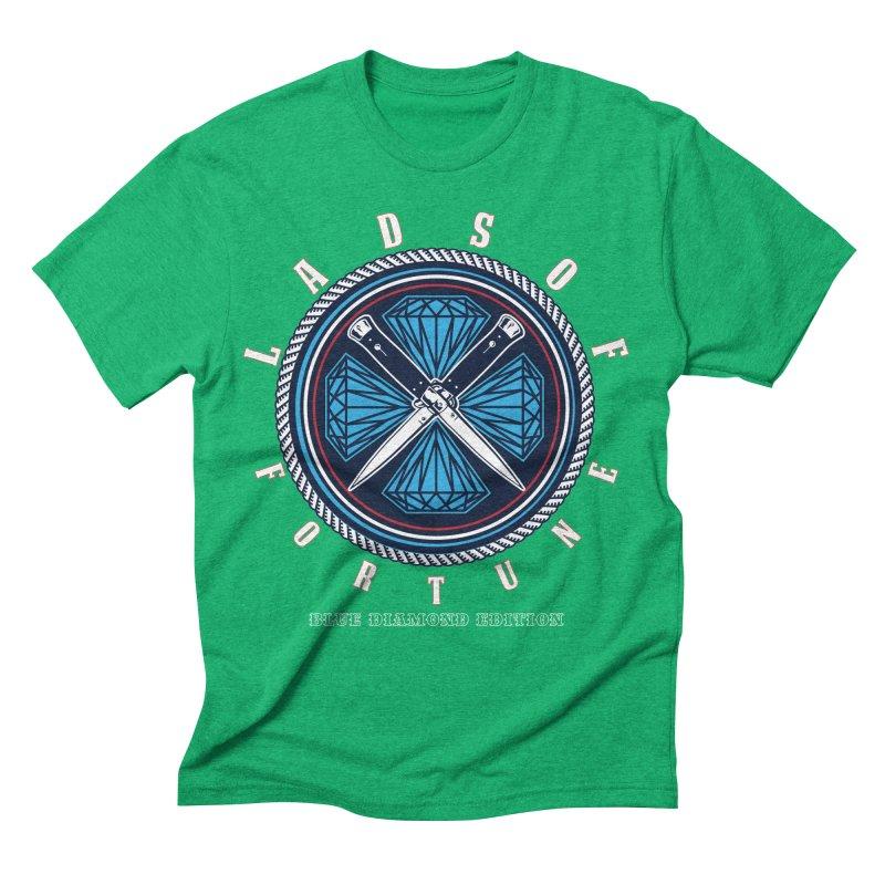 Blue Diamond Edition  Men's Triblend T-shirt by Lads of Fortune Artist Shop