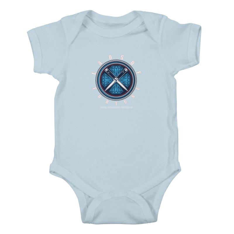 Blue Diamond Edition  Kids Baby Bodysuit by Lads of Fortune Artist Shop