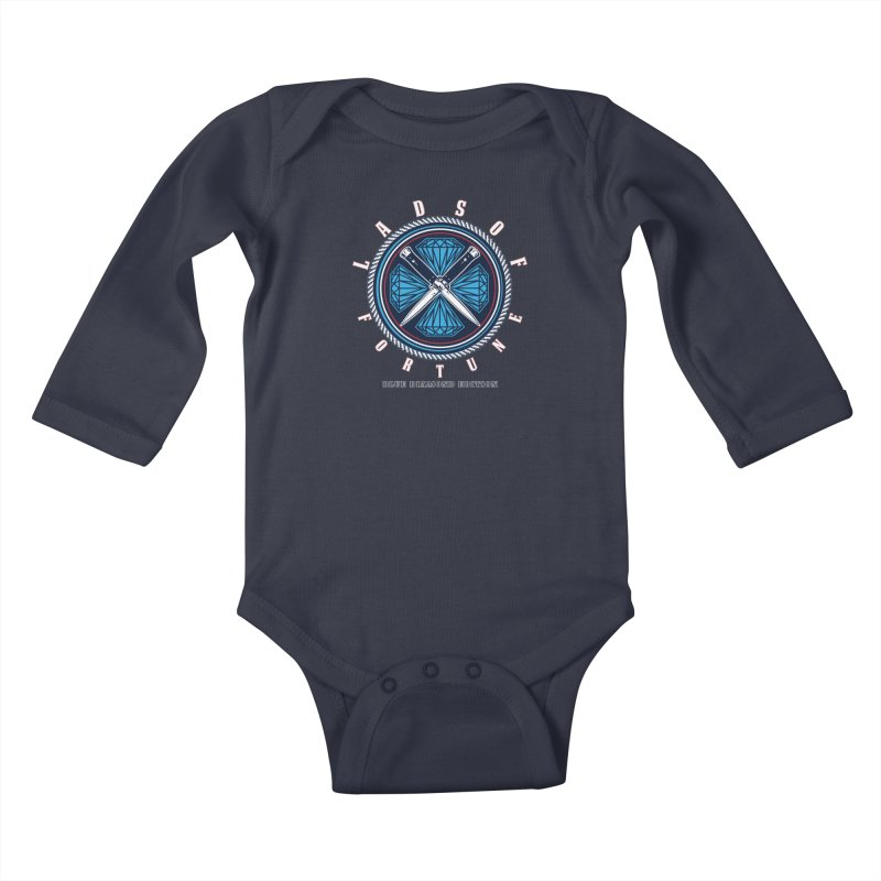 Blue Diamond Edition  Kids Baby Longsleeve Bodysuit by Lads of Fortune Artist Shop