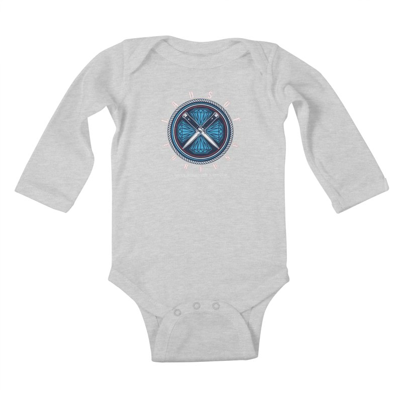 Blue Diamond Edition  Kids Baby Longsleeve Bodysuit by Lads of Fortune Artist Shop