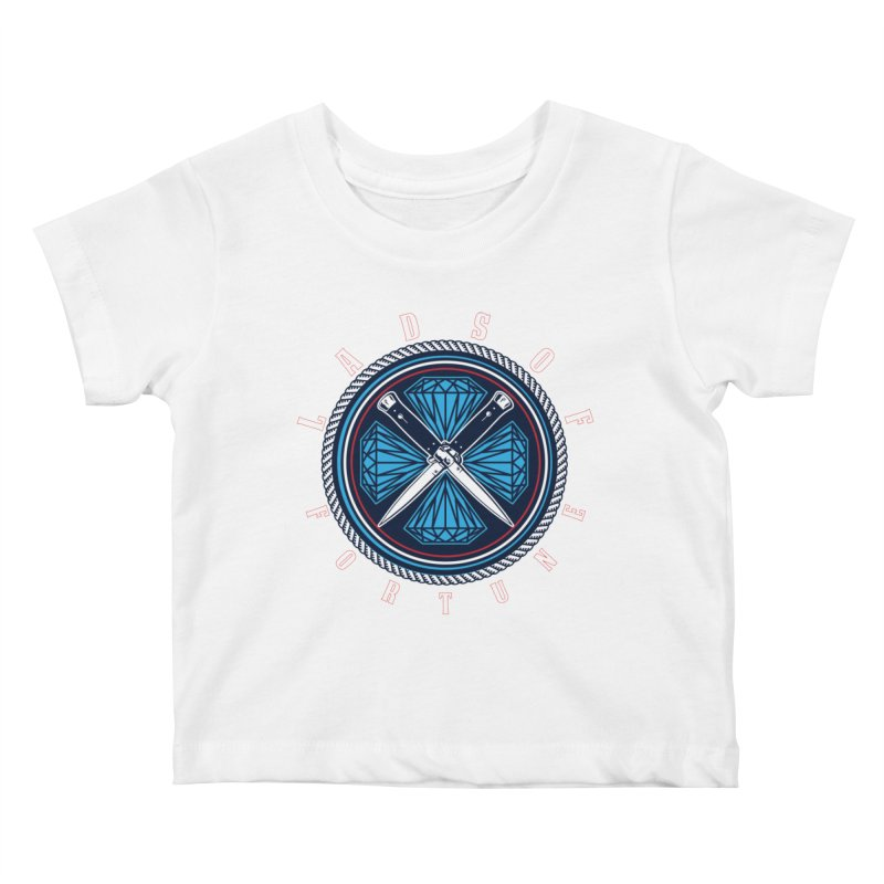 Blue Diamond Edition  Kids Baby T-Shirt by Lads of Fortune Artist Shop