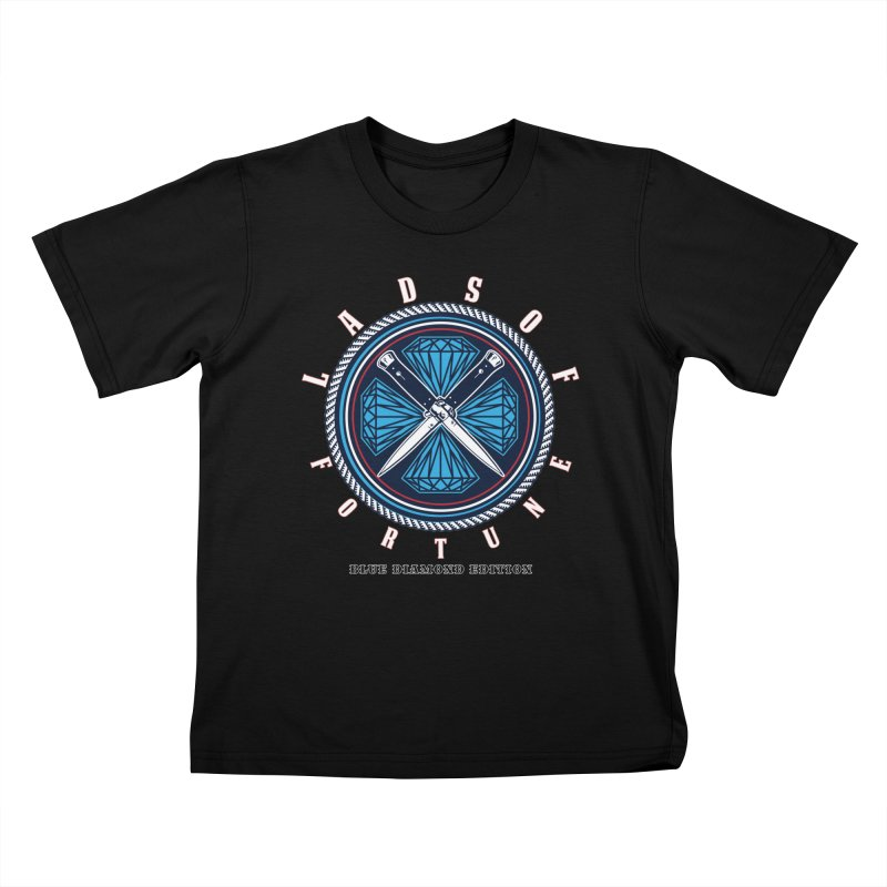 Blue Diamond Edition  Kids T-Shirt by Lads of Fortune Artist Shop