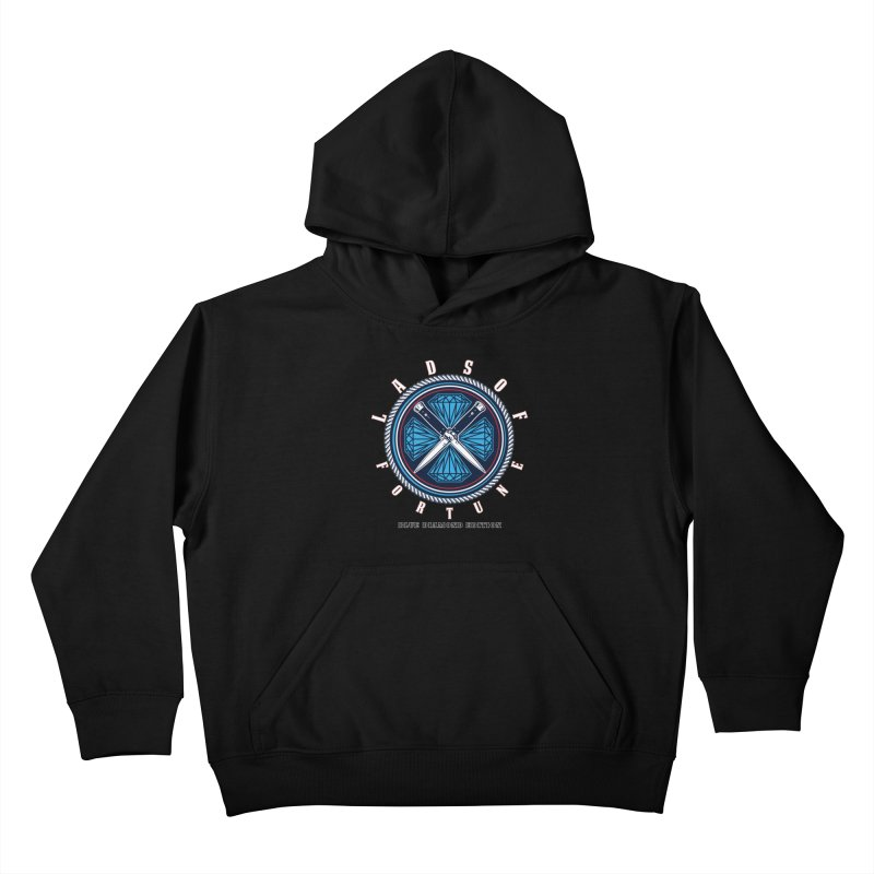 Blue Diamond Edition  Kids Pullover Hoody by Lads of Fortune Artist Shop