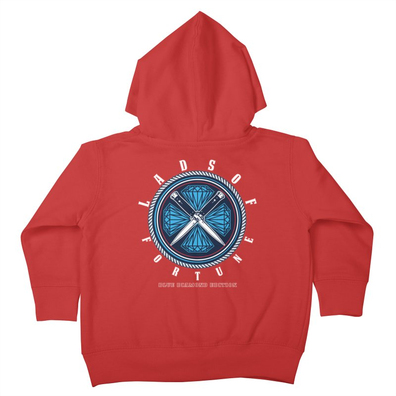 Blue Diamond Edition  Kids Toddler Zip-Up Hoody by Lads of Fortune Artist Shop