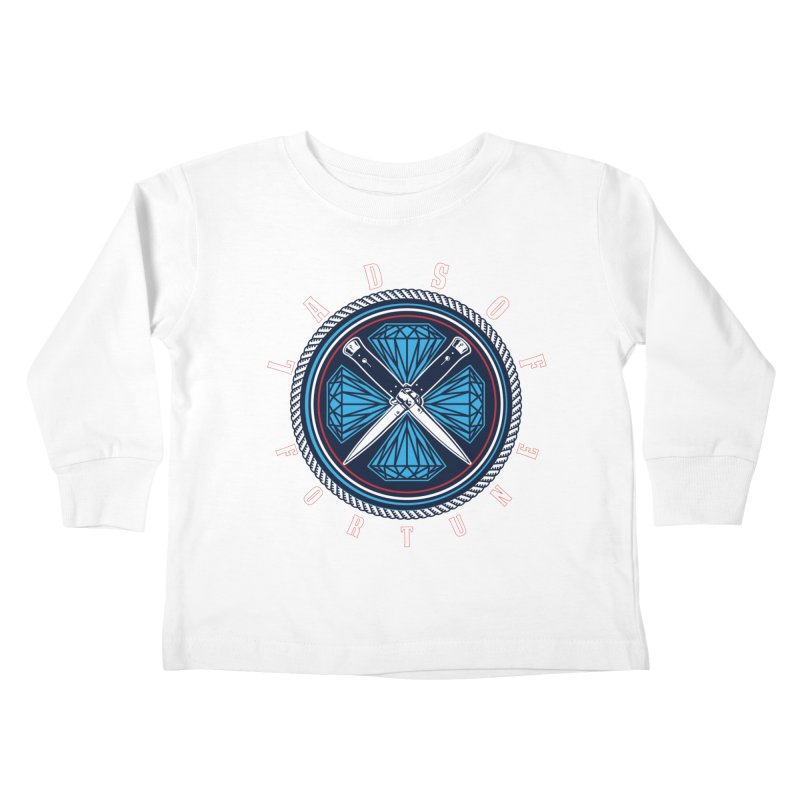 Blue Diamond Edition  Kids Toddler Longsleeve T-Shirt by Lads of Fortune Artist Shop