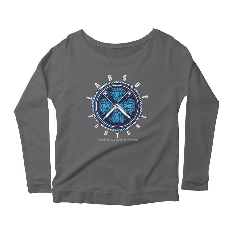 Blue Diamond Edition  Women's Scoop Neck Longsleeve T-Shirt by Lads of Fortune Artist Shop