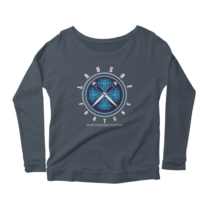 Blue Diamond Edition  Women's Scoop Neck Longsleeve T-Shirt by Lads of Fortune Artist Shop