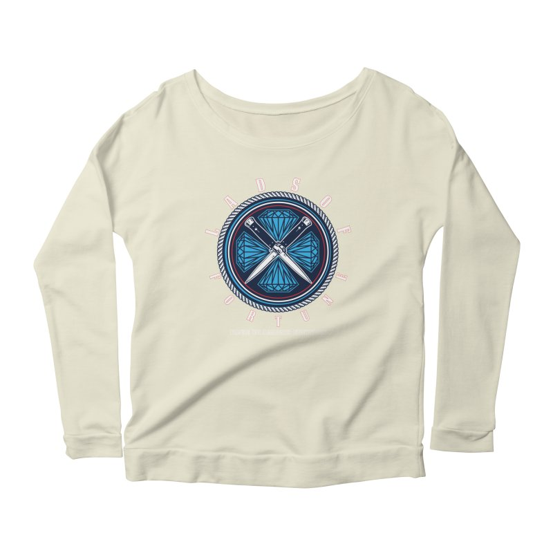 Blue Diamond Edition  Women's Longsleeve Scoopneck  by Lads of Fortune Artist Shop