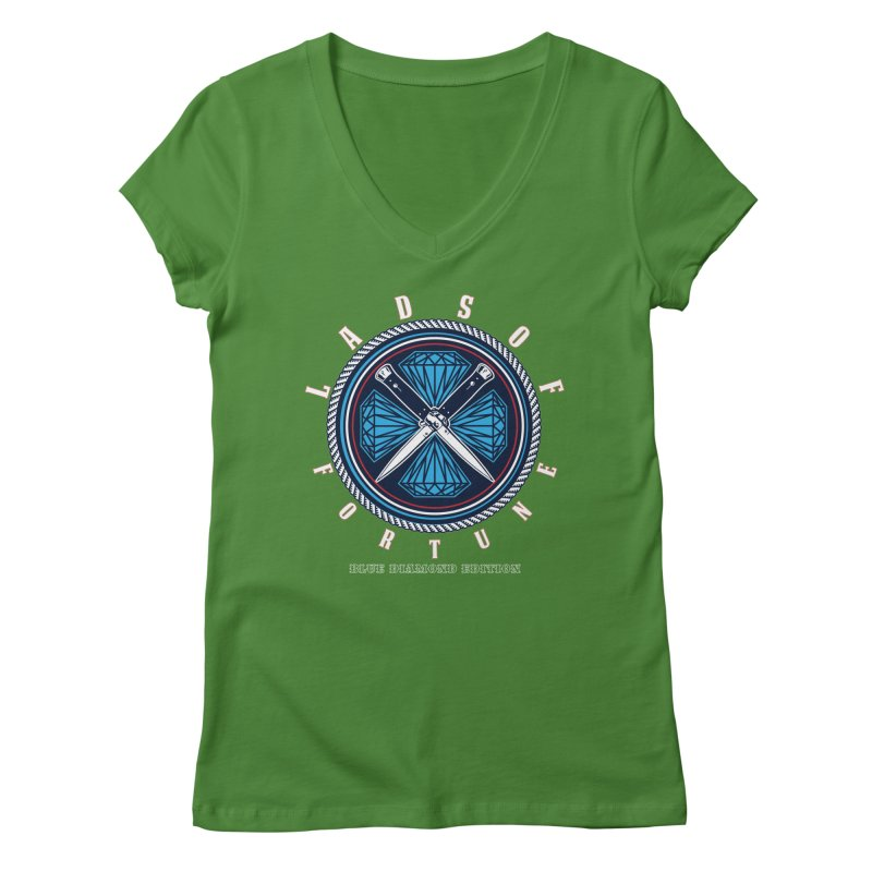 Blue Diamond Edition  Women's Regular V-Neck by Lads of Fortune Artist Shop