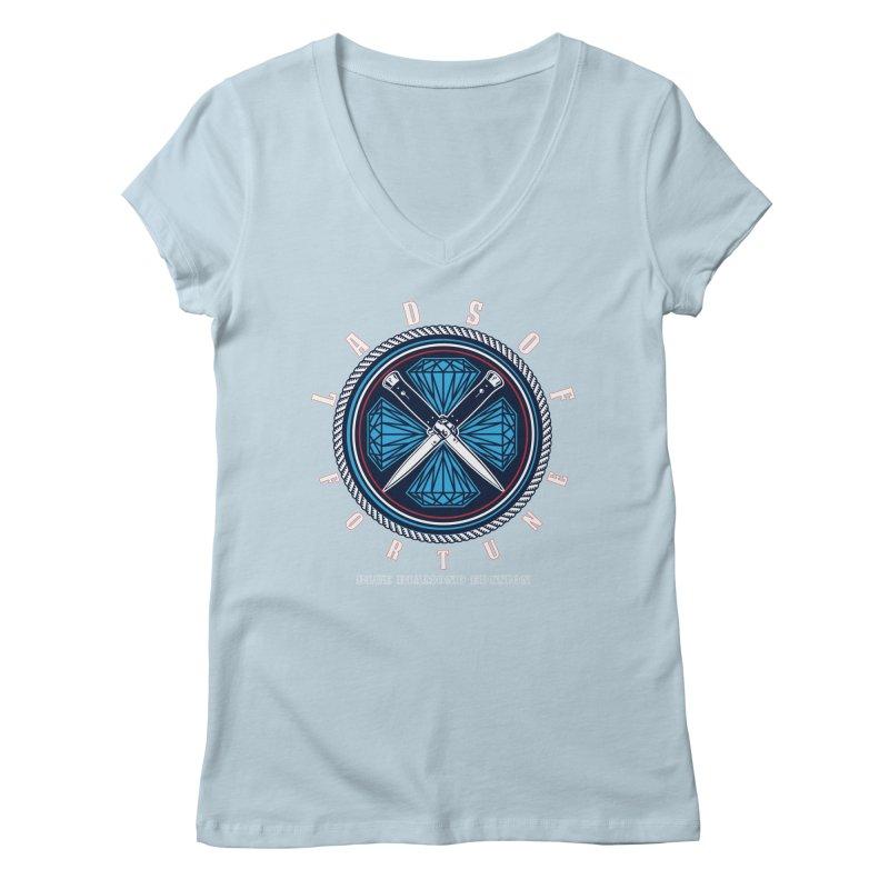Blue Diamond Edition  Women's Regular V-Neck by Lads of Fortune Artist Shop