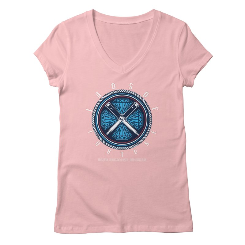Blue Diamond Edition  Women's V-Neck by Lads of Fortune Artist Shop