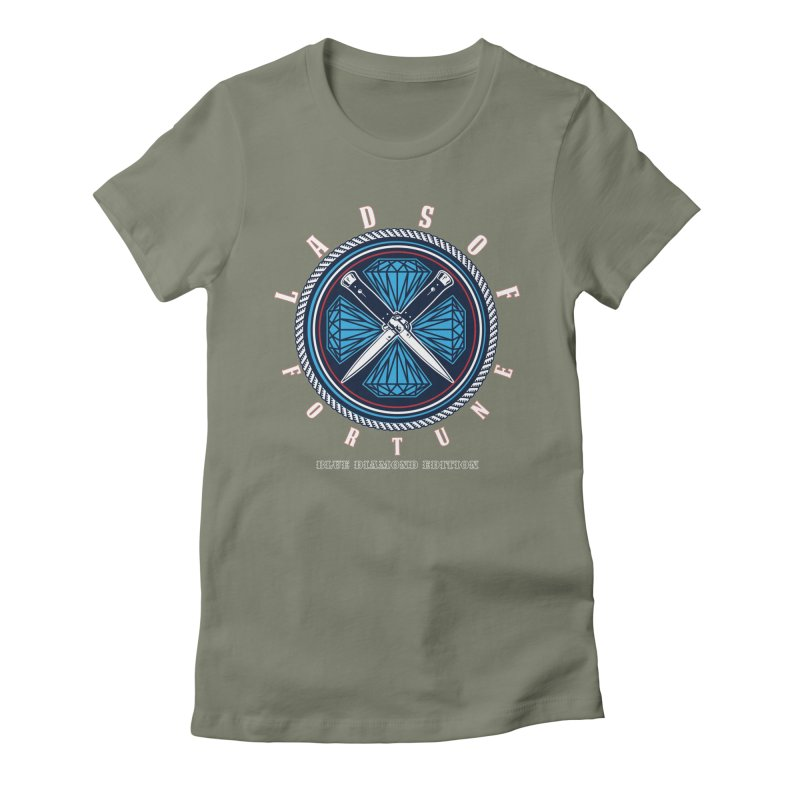 Blue Diamond Edition  Women's Fitted T-Shirt by Lads of Fortune Artist Shop