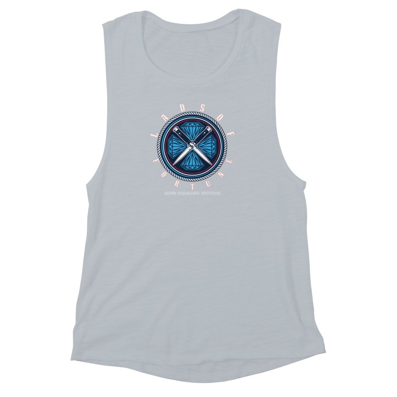 Blue Diamond Edition  Women's Muscle Tank by Lads of Fortune Artist Shop