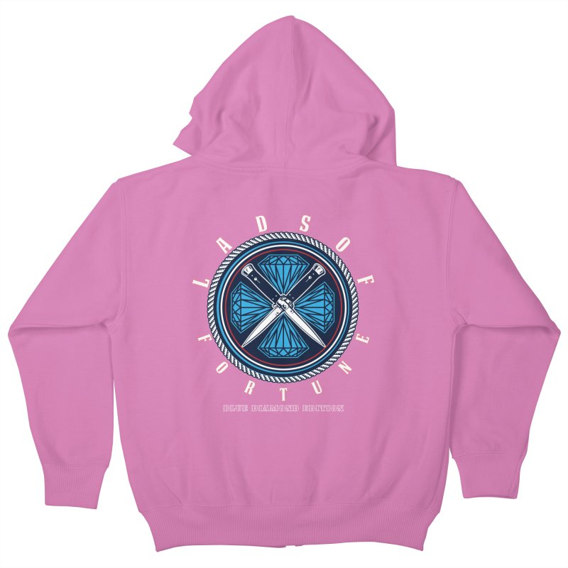 Blue Diamond Edition  Kids Zip-Up Hoody by Lads of Fortune Artist Shop