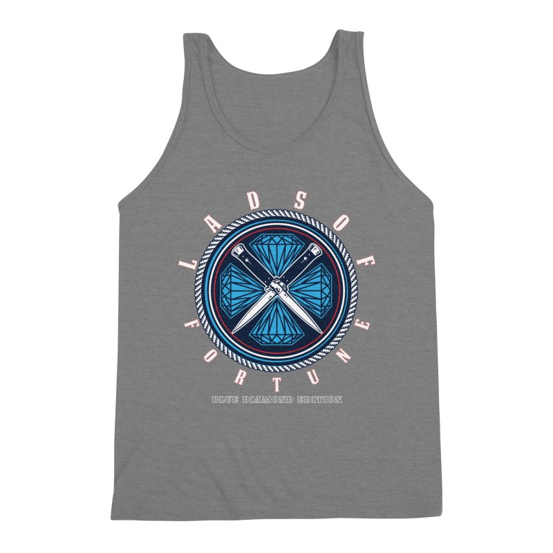 Blue Diamond Edition  Men's Triblend Tank by Lads of Fortune Artist Shop