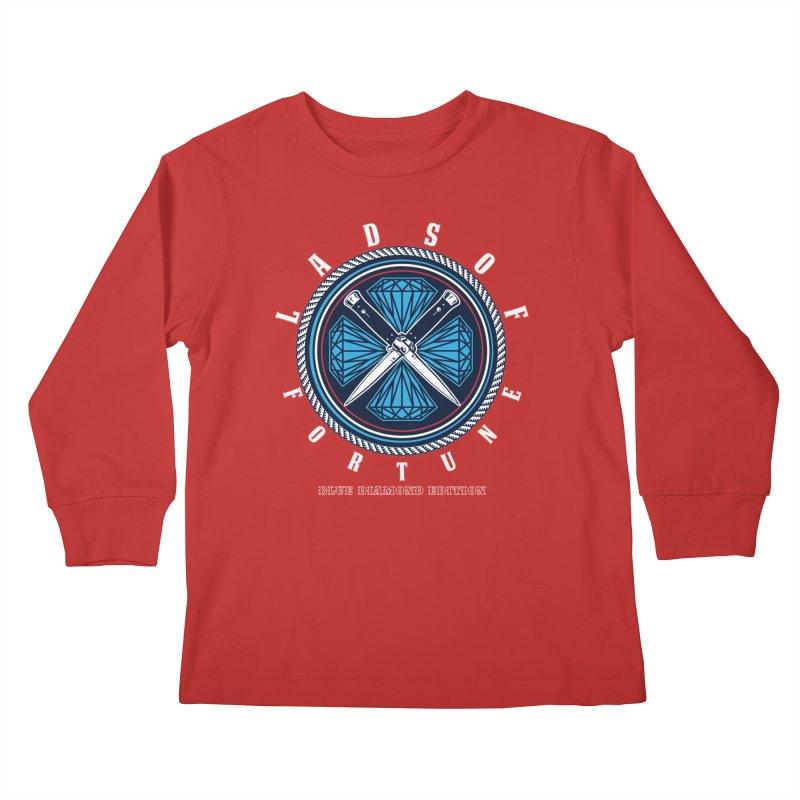Blue Diamond Edition  Kids Longsleeve T-Shirt by Lads of Fortune Artist Shop
