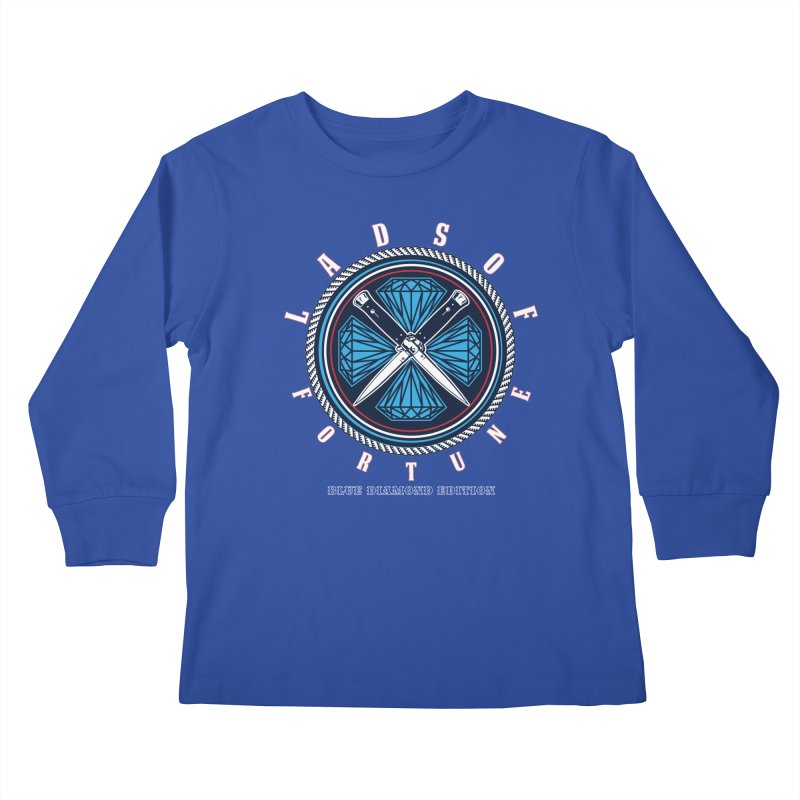 Blue Diamond Edition  Kids Longsleeve T-Shirt by Lads of Fortune Artist Shop