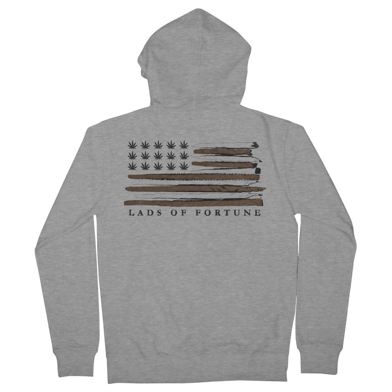 Roll it up! Legalize Women's French Terry Zip-Up Hoody by Lads of Fortune Artist Shop