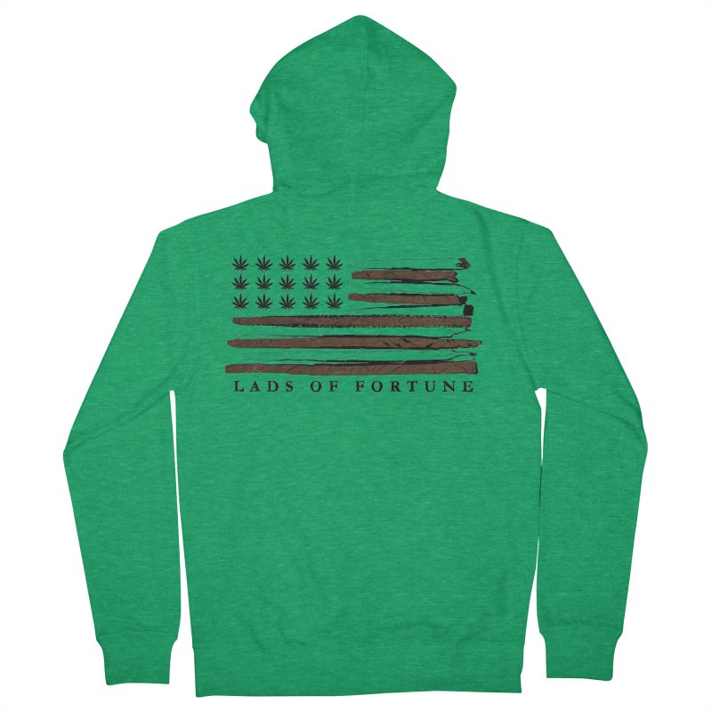 Roll it up! Legalize Men's French Terry Zip-Up Hoody by Lads of Fortune Artist Shop