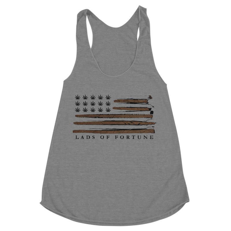 Roll it up! Legalize Women's Racerback Triblend Tank by Lads of Fortune Artist Shop