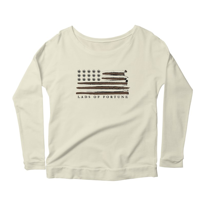 Roll it up! Legalize Women's Scoop Neck Longsleeve T-Shirt by Lads of Fortune Artist Shop