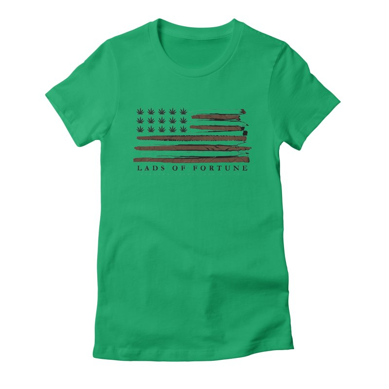 Roll it up! Legalize Women's Fitted T-Shirt by Lads of Fortune Artist Shop