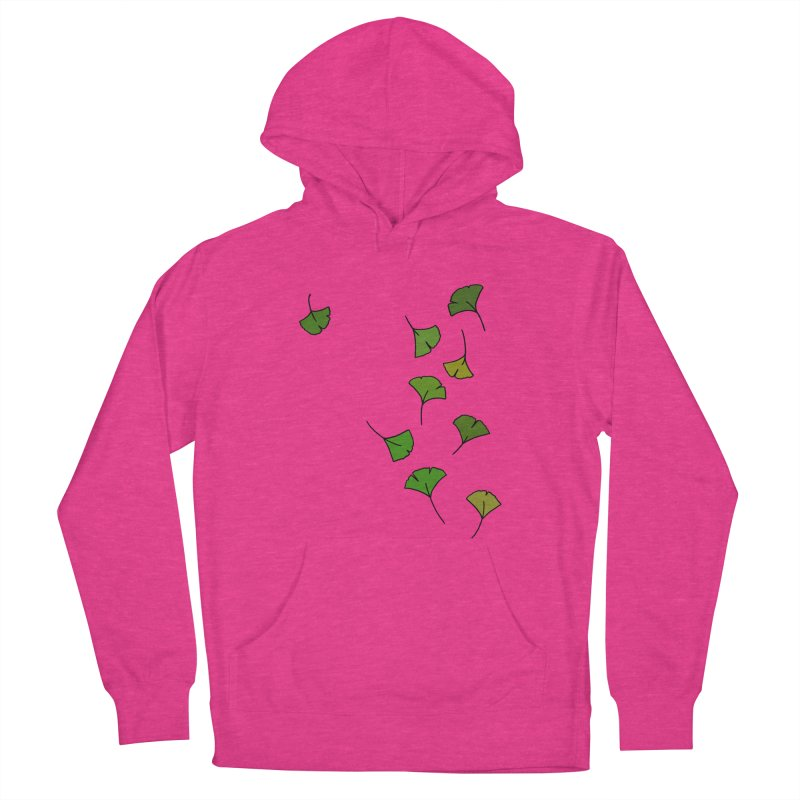 Ginkgo Leaves Women's French Terry Pullover Hoody by LadyBaigStudio's Artist Shop
