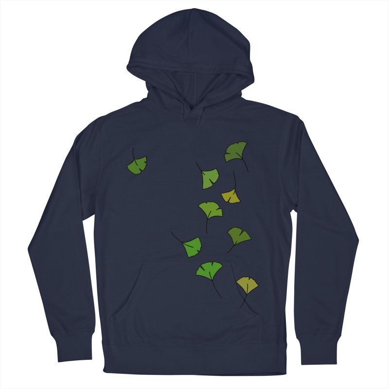 Ginkgo Leaves Men's French Terry Pullover Hoody by LadyBaigStudio's Artist Shop