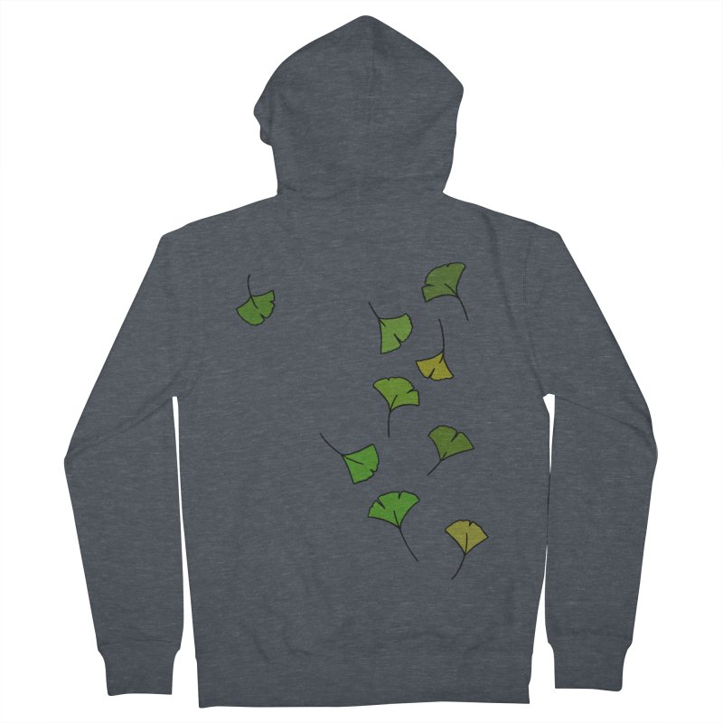 Ginkgo Leaves Women's French Terry Zip-Up Hoody by LadyBaigStudio's Artist Shop
