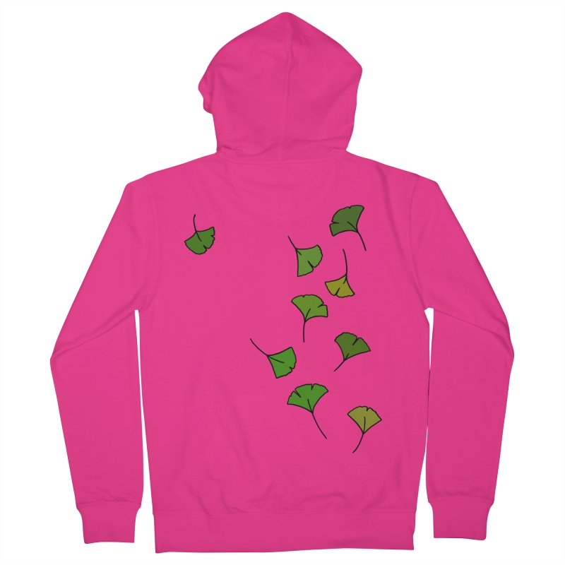 Ginkgo Leaves Men's French Terry Zip-Up Hoody by LadyBaigStudio's Artist Shop