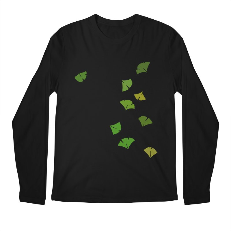 Ginkgo Leaves Men's Regular Longsleeve T-Shirt by LadyBaigStudio's Artist Shop