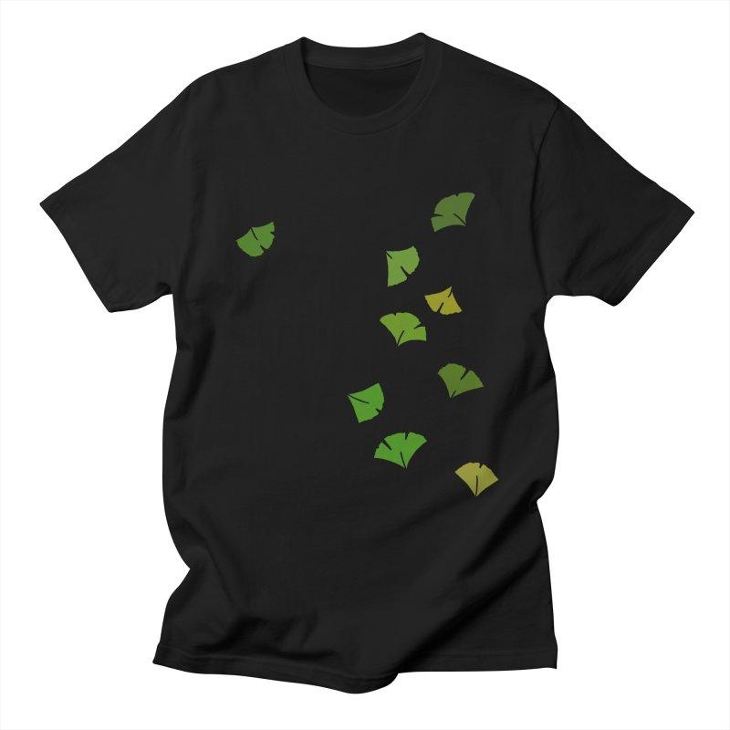 Ginkgo Leaves Men's Regular T-Shirt by LadyBaigStudio's Artist Shop