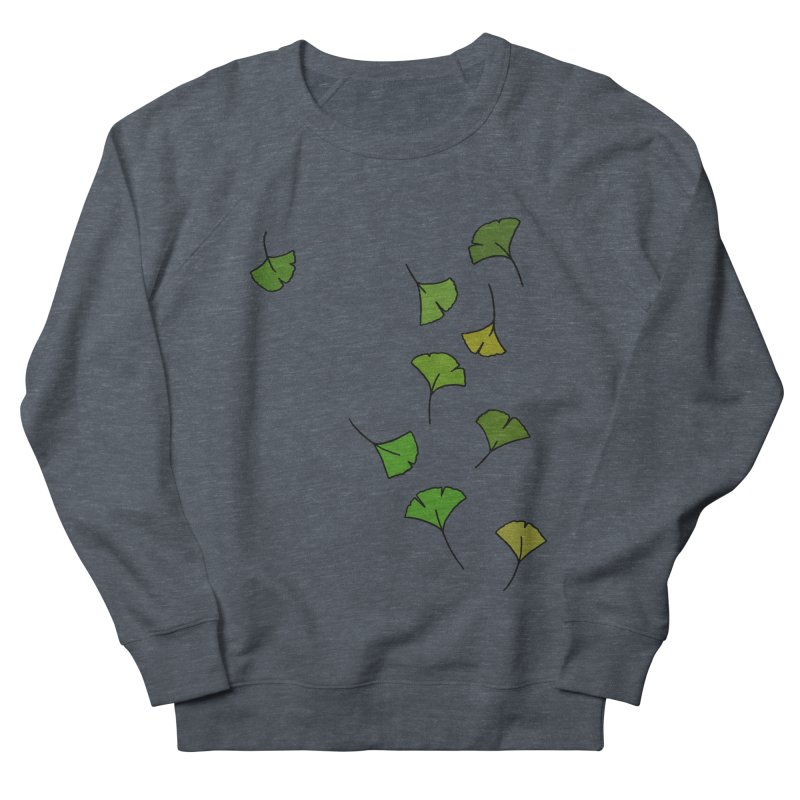 Ginkgo Leaves Women's French Terry Sweatshirt by LadyBaigStudio's Artist Shop