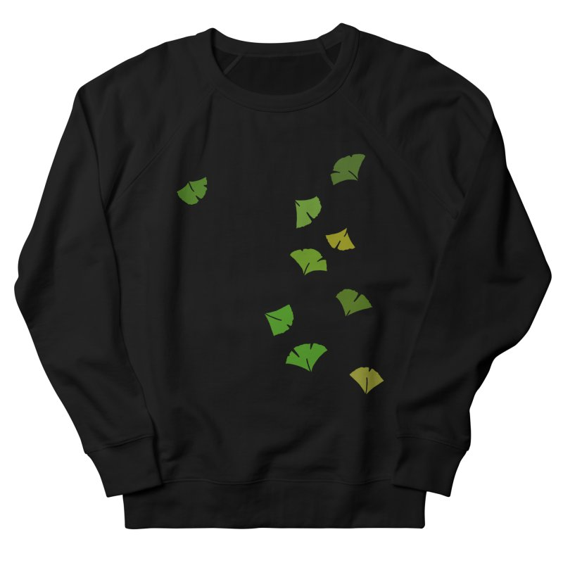 Ginkgo Leaves Men's French Terry Sweatshirt by LadyBaigStudio's Artist Shop